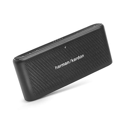a418abb5646 Amazon.com  Harman Kardon HK Traveler Black Portable Bluetooth Speaker with  Microphone Black  Electronics