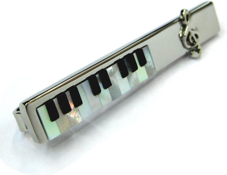 Tailor B plata madre de Pearl y Onyx corbata Slide música teclado ...