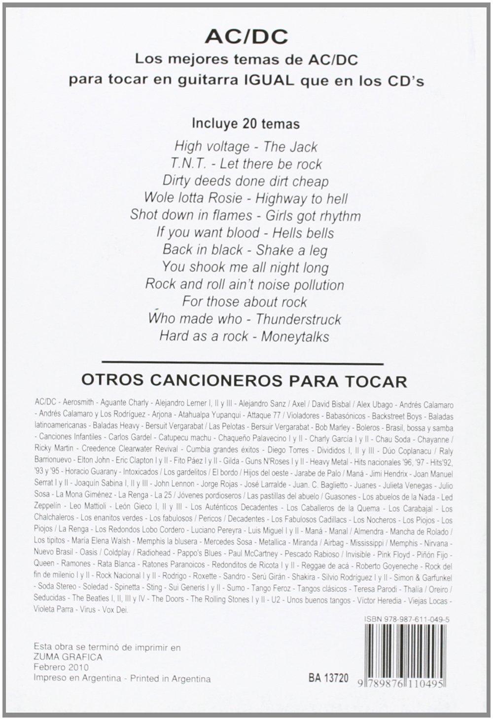 PARA TOCAR AC/DC: Amazon.es: Ac/Dc: Libros