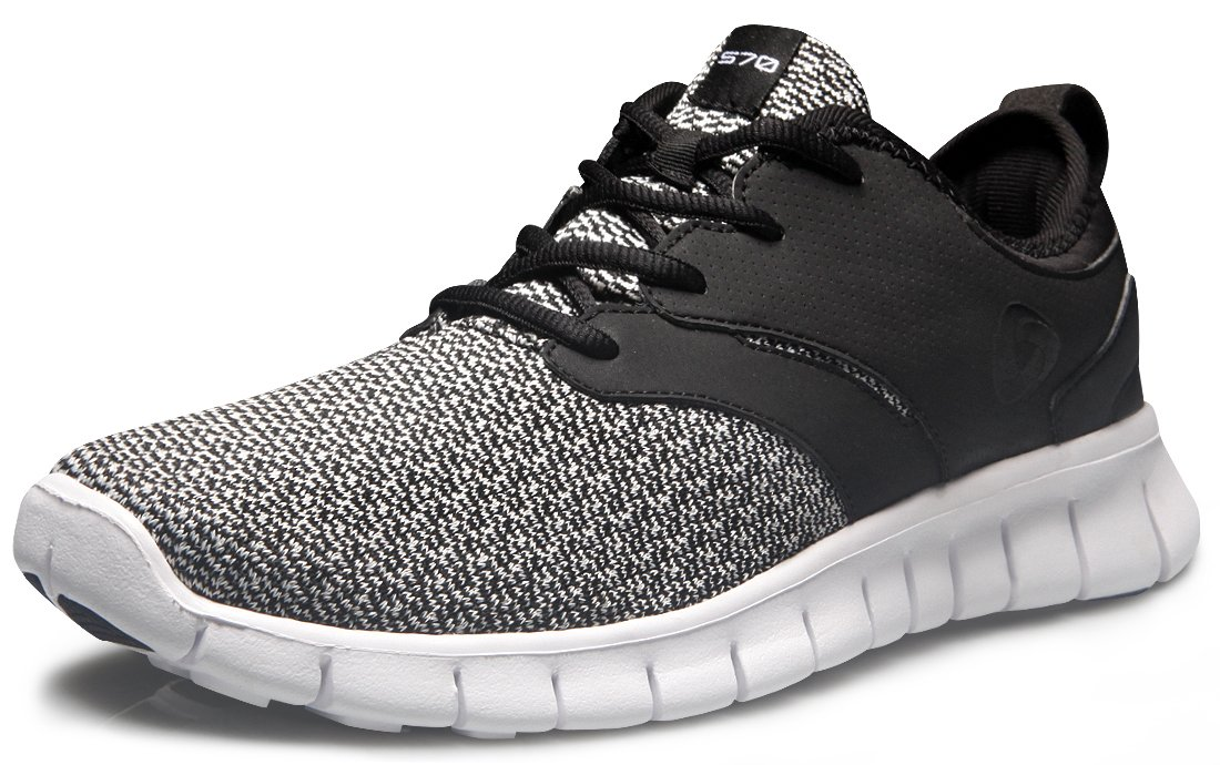 Tesla TF-X574-BLK_Men 9 D(M) Men's Knit Pattern Sports Running Shoes X574 (True to Size)