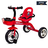 Baybee Speed Racing Tricycle Kid's Trike with The Smart Plug and Play Baby Tricycle/Bicycle with Seat Belt Kid's Ride on Outdoor   Suitable for Boys & Girls-(1 to 5 Years) Red