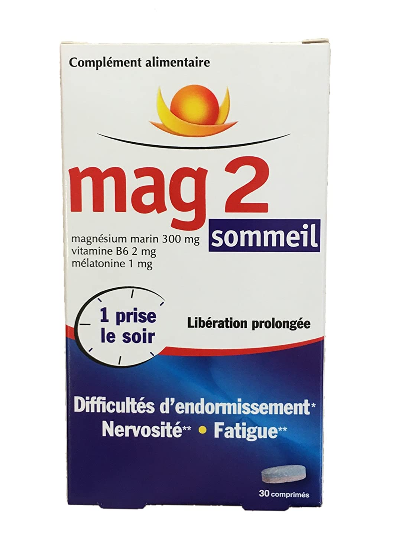 Mag 2 sommeil - Dificultad para dormir, nervios, fatiga - 3 meses - Lote de 3 x 30 pastillas: Amazon.es: Salud y cuidado personal