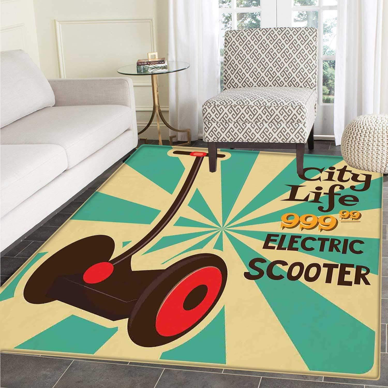 Alfombra de área Vintage Segway para Patinete eléctrico con ...