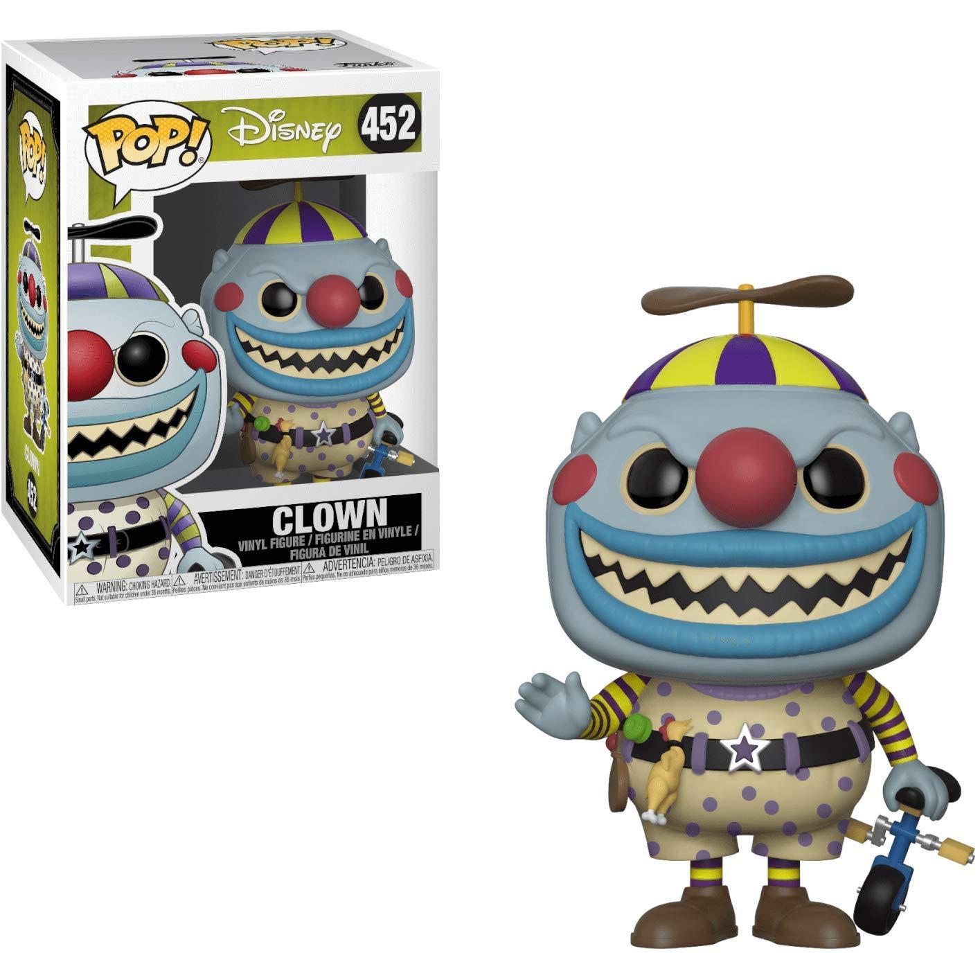 Clown Vinyl Figure Disney: The Nightmare Before Christmas Funko Pop Bundled with Pop Box Protector Case
