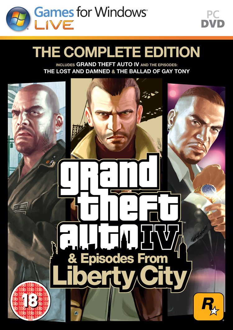 Image result for Grand Theft Auto IV Complete Edition cover pc