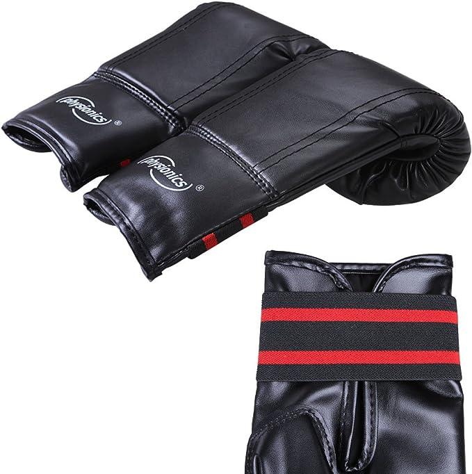 Sac de Boxe 3 Pieds Gants de Boxe Jaune//Noir POWRX Set de Boxe pour Enfants//Adolescents /à partir de 6