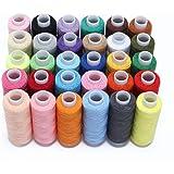 Hamhsin Ensemble de fils à coudre 30pièces–Kit de fils en polyester –228,6m chacun pour couture à la main ou à la machine