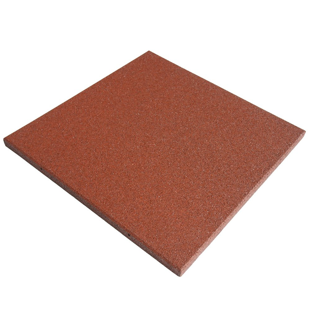 Rubber-Cal Eco-Sport 1-inch Interlocking Flooring Tiles - 1 x 20 x 20-inch Rubber Tile - 3 Pack, 8.5 Sqr/Ft Coverage - Terra Cota in Color