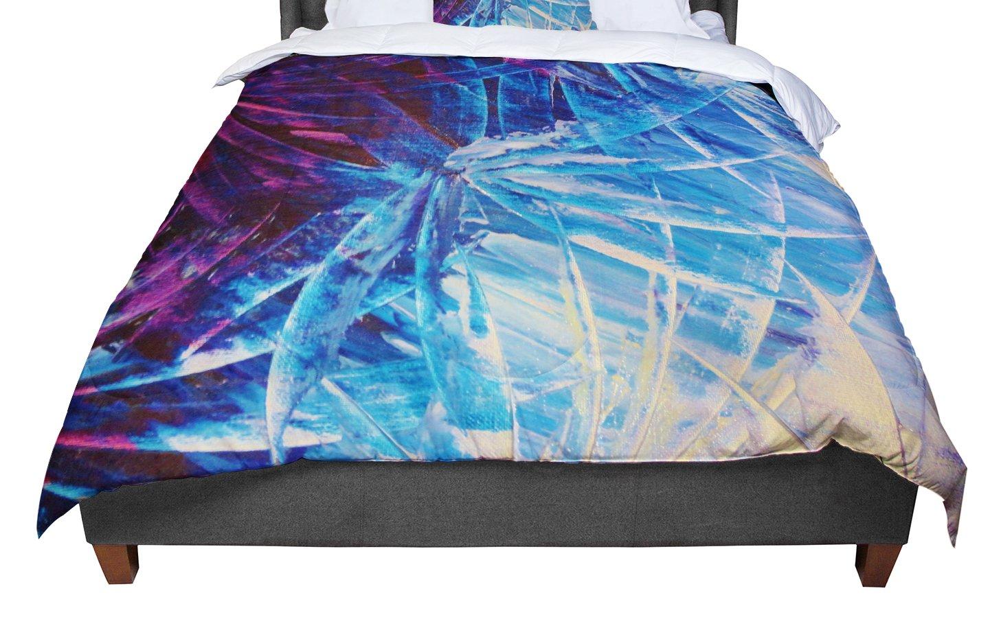 68 X 88 KESS InHouse Ebi Emporium Night Flowers Blue White Twin Comforter