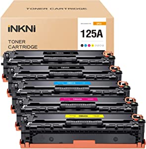INKNI Remanufactured Toner Cartridge Replacement for HP 125A CB540A for Laserjet CP1518ni CM1312 MFP CM1312nfi MFP CP1215 CP1515n CP1217 CP1510 (2Black, 1Cyan, 1Magenta, 1Yellow, 5-Pack)
