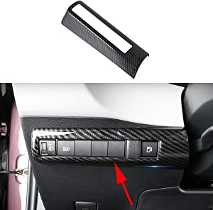 Bestlovey.trim Cover Carbon Fiber Headlight Button Adjustment Switch Console Panel Cover Frame Fit For Toyota Corolla 2019 2020 Accessories