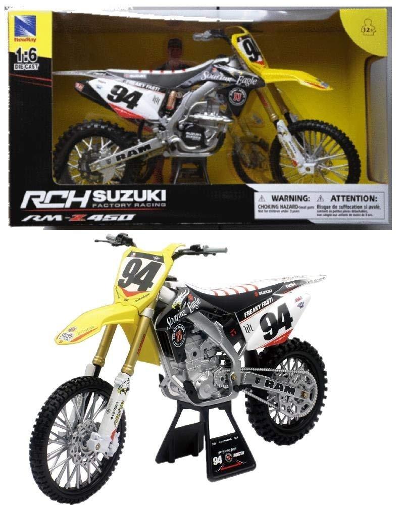 NewRay Motocross Modell Crossbikes Suzuki RM-Z450 Ken Roczen PS 04744