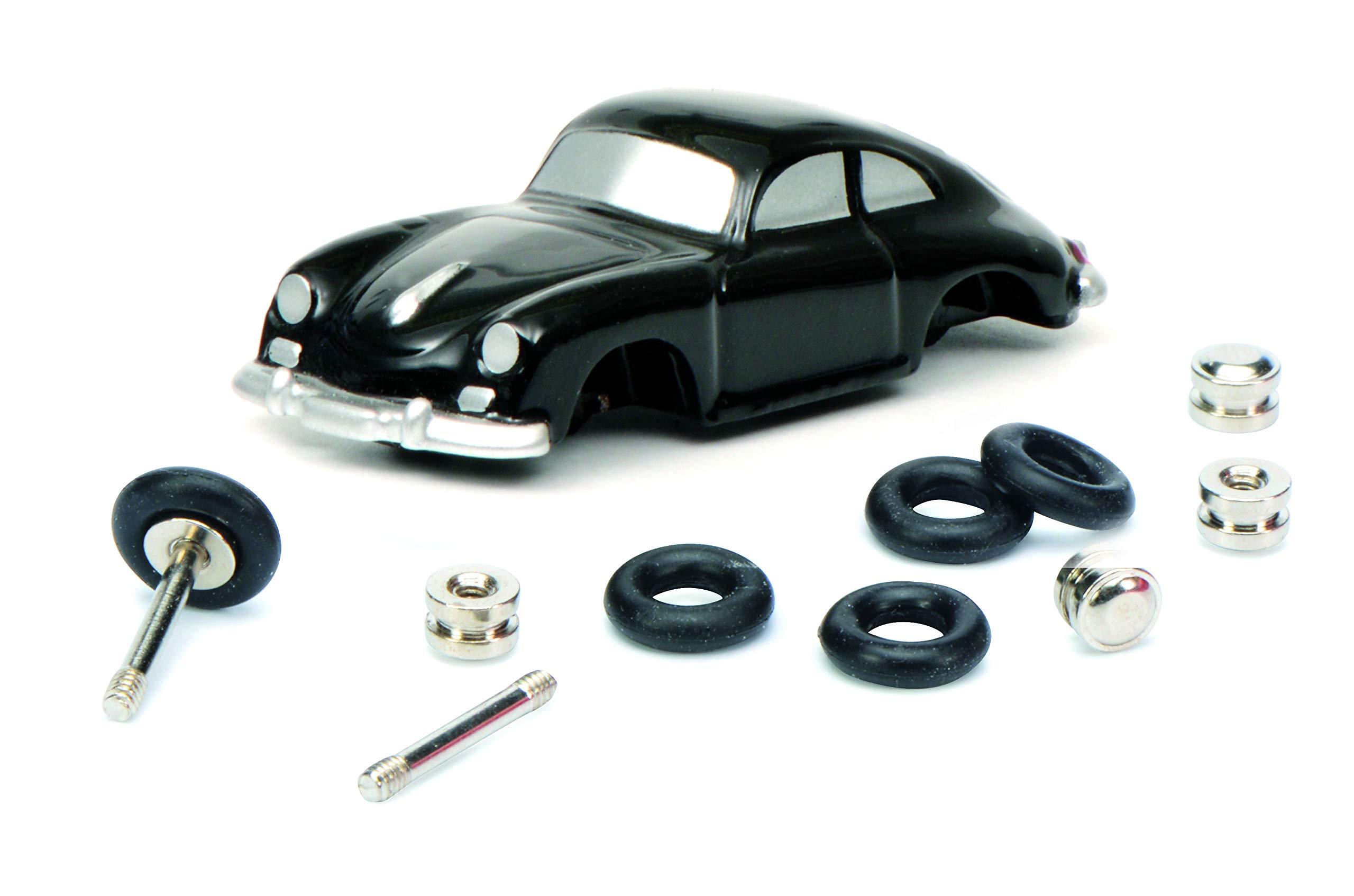 Schuco Piccolo 450559800 Mounting Box for Porsche Installer 450559800 Model Car Black