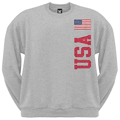 World Cup USA Crew Neck Sweatshirt at Amazon Men's Clothing store:
