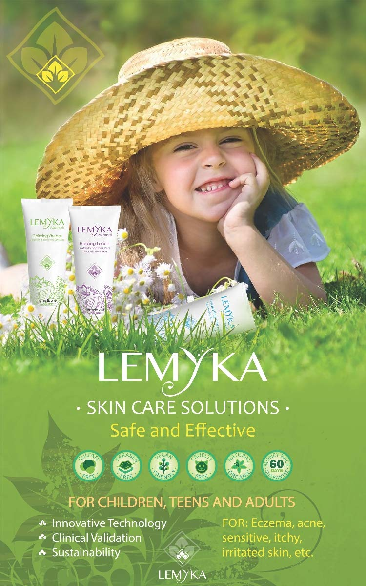 LEMYKA Eczema Flare Defense Natural Calming Creams - 3 Pack Bundle, for Infants, Babies, and Children with Eczema (Atopic Dermatitis), Dry Itchy Patches, Skin Rashes, Steroid Free, Formally Michaderm