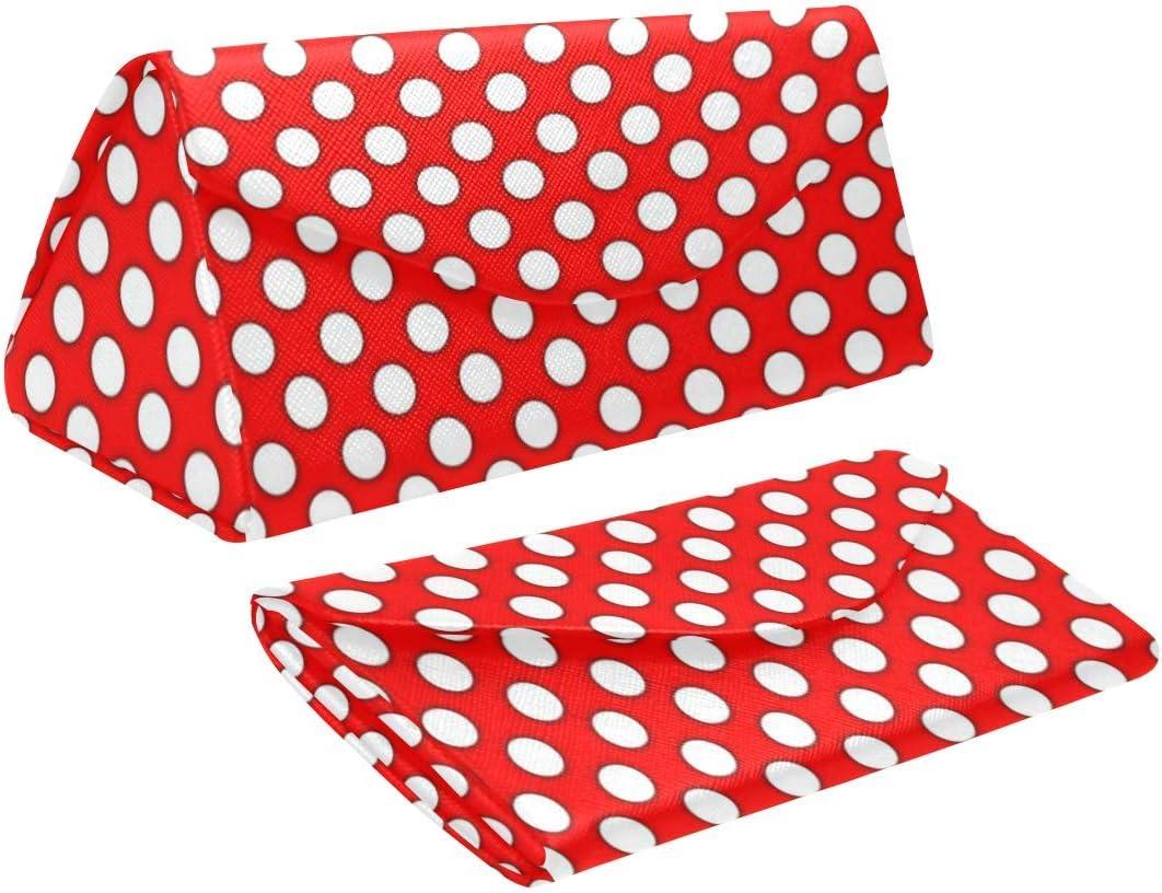 InterestPrint Dots Foldable Glasses Case Eyeglass Cases Sunglasss Boxes for Men Women