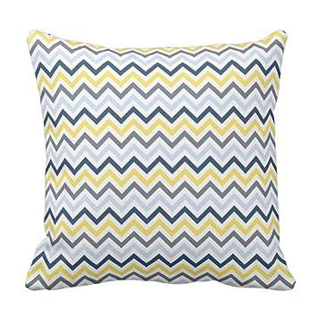 Amazon.com: Funda de almohada decorativa de color azul ...