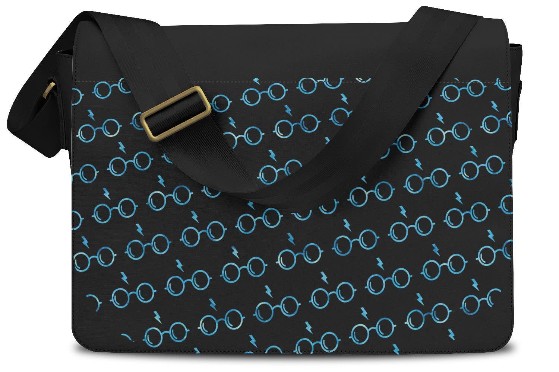 Glasses & Lightning Bolt Harry Potter Inspired Ravenclaw - One Size Messenger Bag - Messenger Bag by Queen of Cases