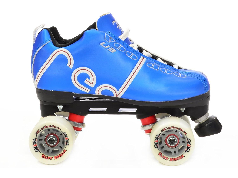 Roller skates blue - Amazon Com Labeda Voodoo U3 Kentucky Blue Quad Roller Derby Skates Sports Outdoors