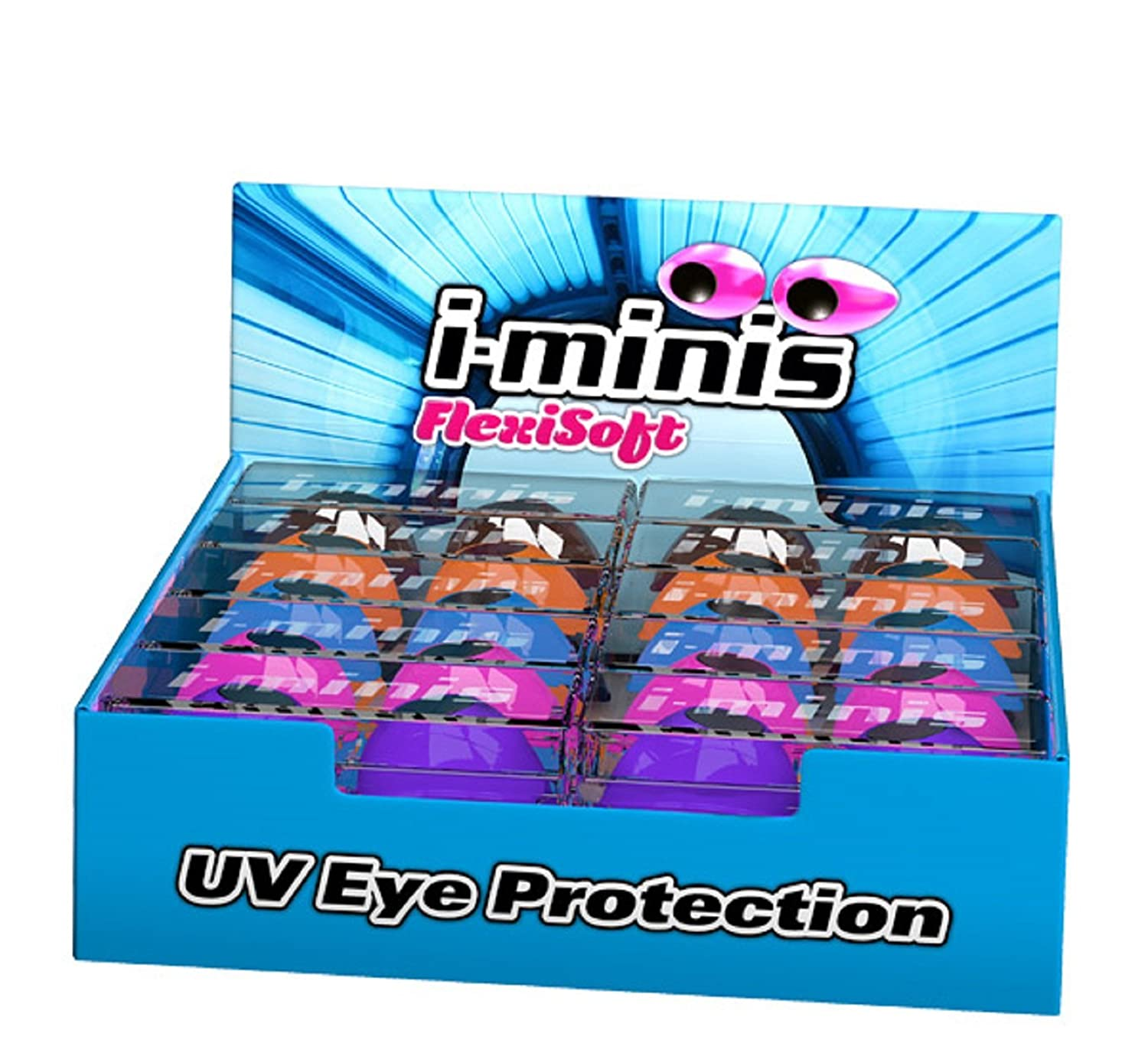 i-minis sunbed tanning goggles UV eye protection indoor or outdoor 20 pairs in display box 4Eyez