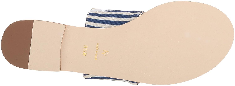 Frances Valentine Women's Clementine Slide Sandal B074P8BFD9 8.5 B(M) US|Navy/Red