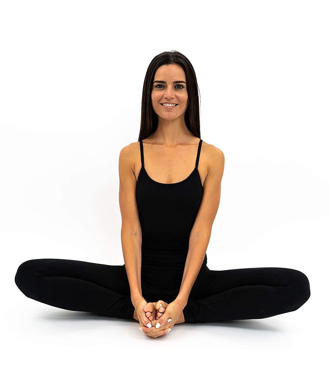 Amazon.com: Body de algodón negro para yoga, mono de una ...