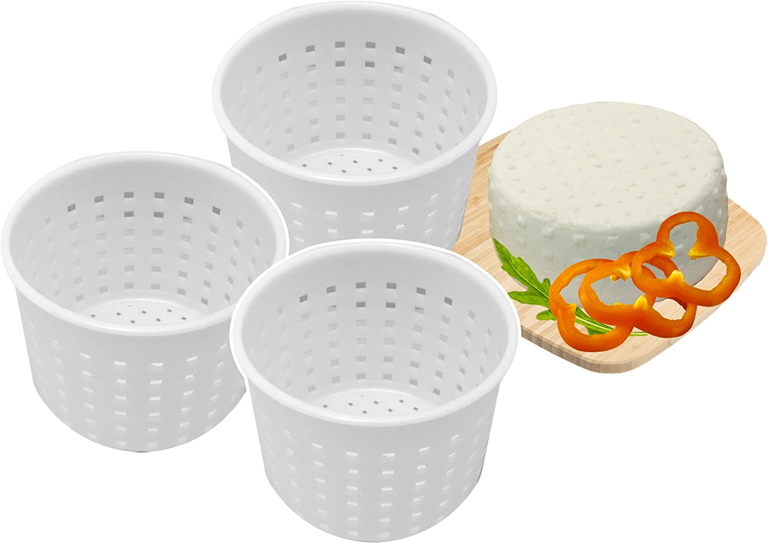 3 pcs Basic Cheese Mold Soft Sorts of Cheese 300 mililiters by PetriStor
