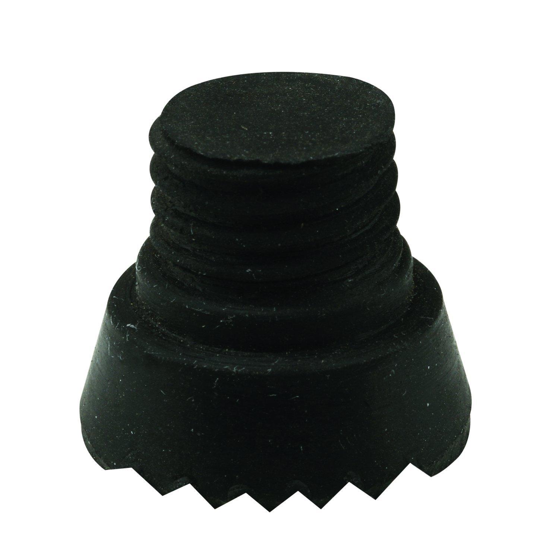 Prime-Line MP4556 Door Holder Replacement Tips, 5/8 in. Thread Diameter x 1-Inch, Rubber, Black, Pack of 10, 10 Piece