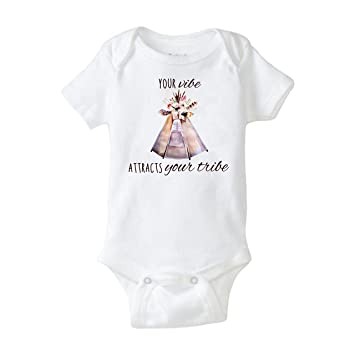 Your Vibe Attracts Your Tribe Baby Shower Gift Cool Funny Cute Awesome Baby Gift Boy Girl