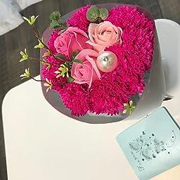 Amazon Fengding ソープフラワー 花束 バラ 石鹸 フラワー お祝い 誕生日 女性 プレゼント 花束 オンライン通販