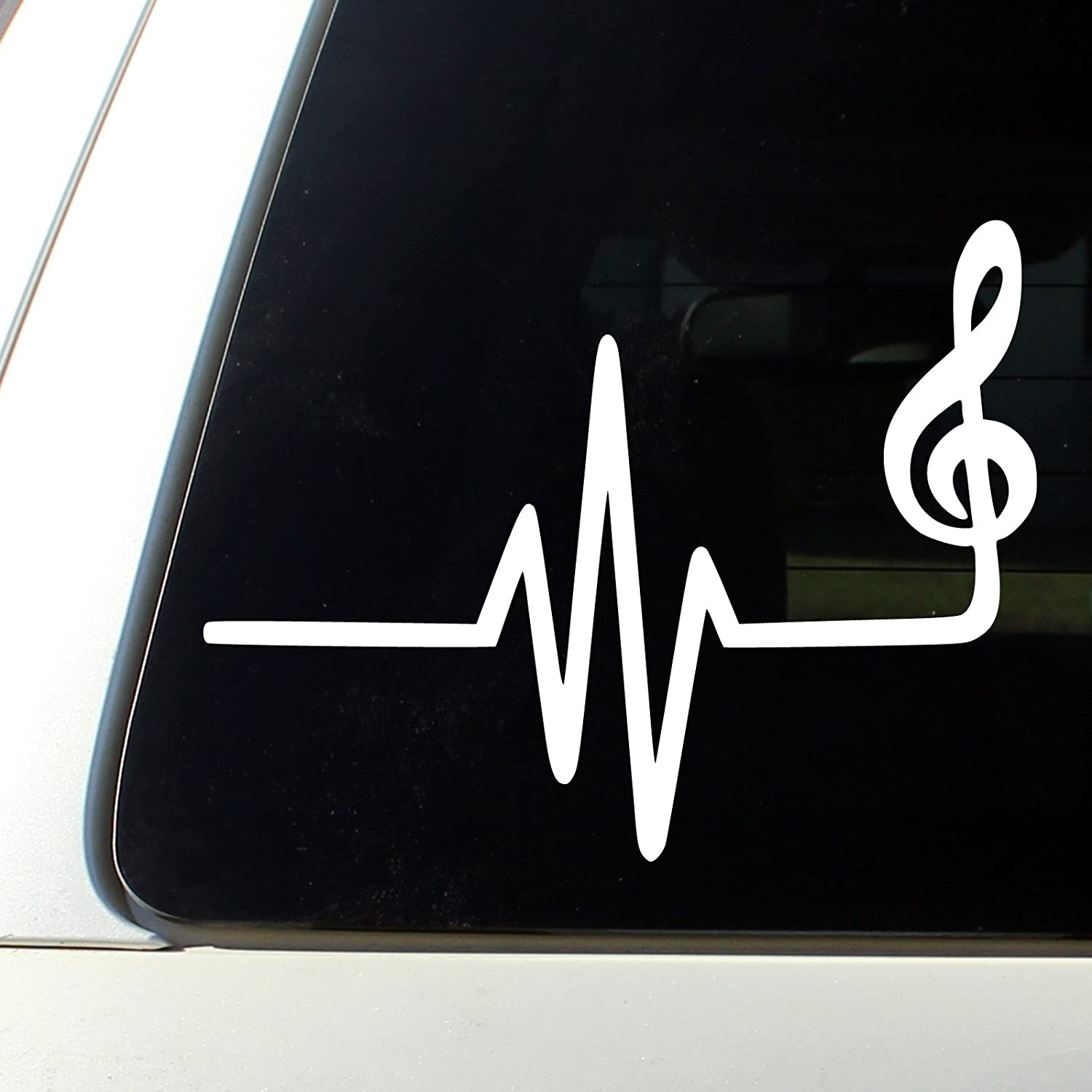 Amazoncom Music Heart Beat Sticker Bumper Decal Car Automotive - Customized car decals and graphics