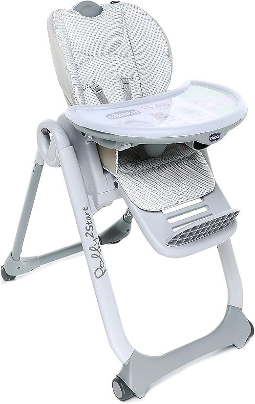 Chicco avec Accessoires Ajustable Chaise Haute Evolutive B/éb/é Polly Progres5-4 Roues Cherry