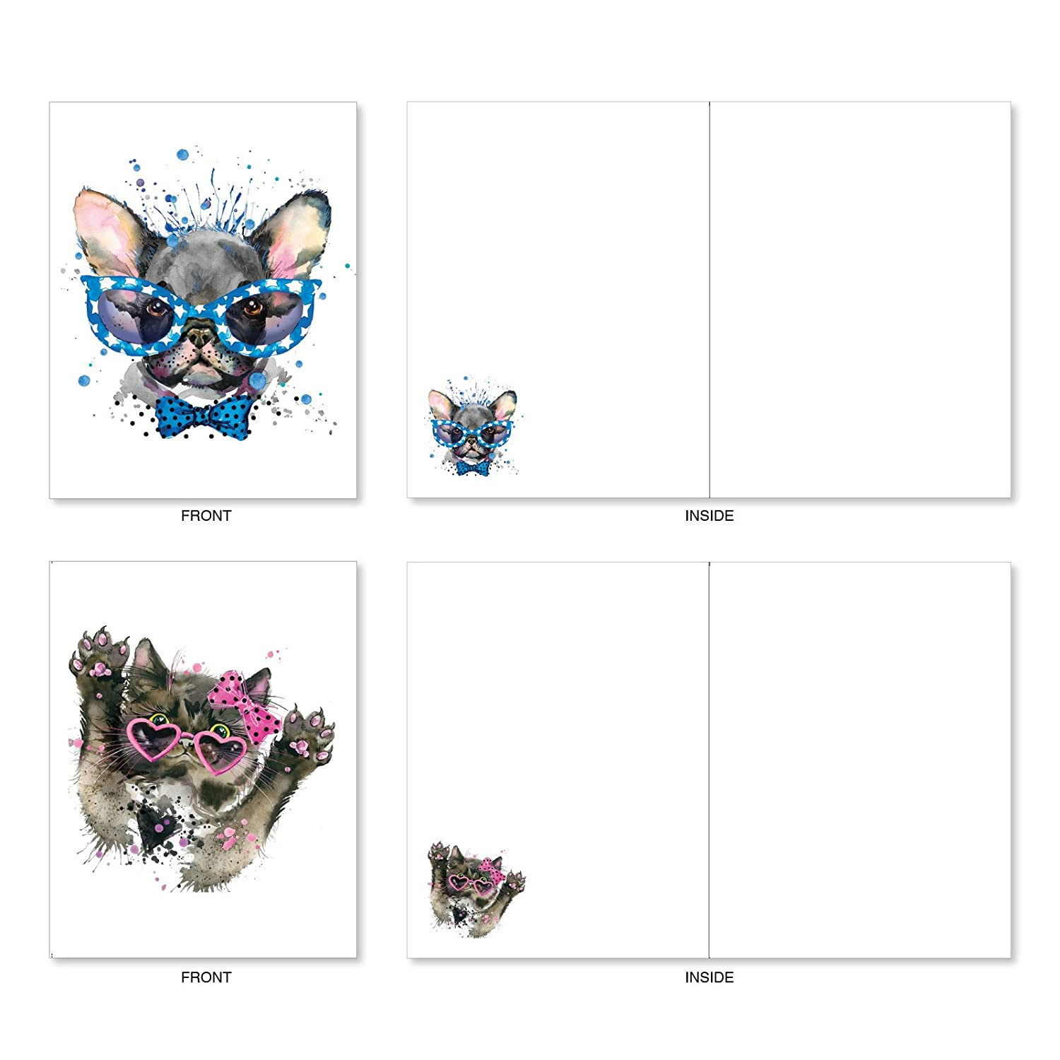 Funny Dog Note Cards With Envelopes Box Of 10 Assorted Flying