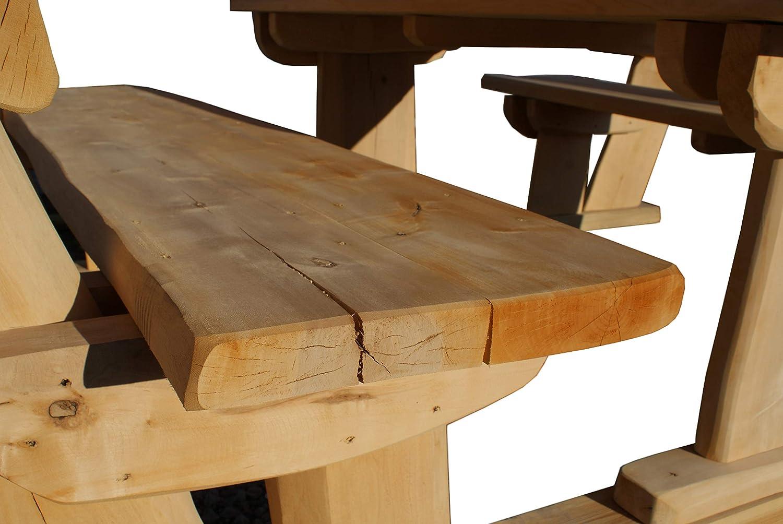 Ulrich – Cenador de jardín con techo, banco de asiento, cenador de madera, para exterior, muebles de jardín, espacio para 8 personas: Amazon.es: Jardín