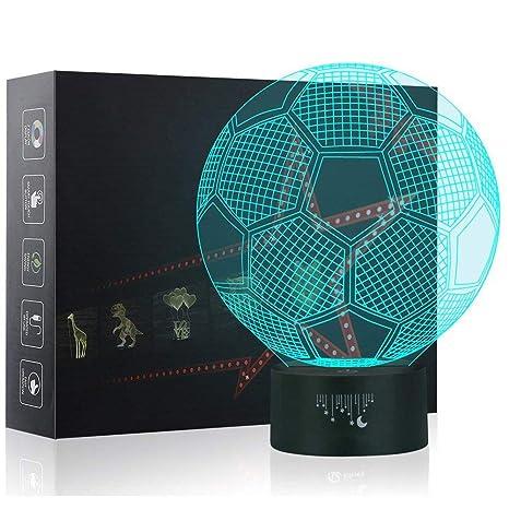 Amazon.com: Luces 3D de fútbol, lámpara LED para niños ...