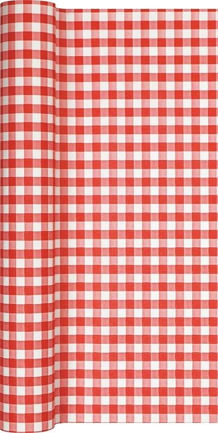 Camino de mesa papel cuadriculado en rojo - blanco/camino/camino ...