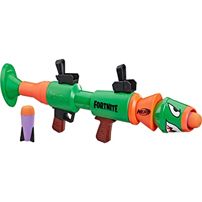 NERF Fortnite Rl Blaster -- Fires Foam Rockets -- Includes 2 Official Fortnite Rockets -- for Youth, Teens, Adults: Toys & Games