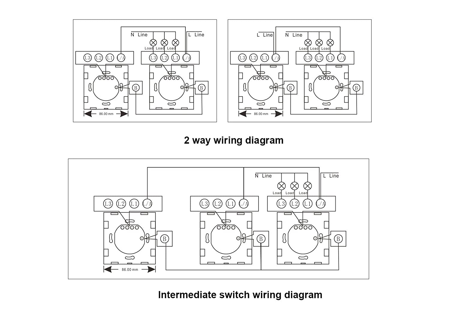 Wallpad 3 Colors Glass Panel Touch Sensor Remote Control Wall Switch Wiring Diagram Intermediate 1 200w Lamps Suitable Gang 2 Way White Diy Tools