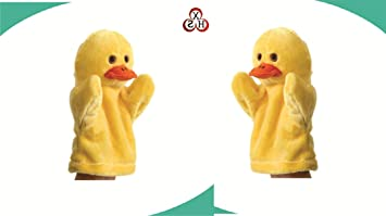 Chocozone Duck Animal Soft Toy Hand Puppets for Kids , Multi Color (Pack of 2)