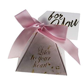 Caja de caramelos triangular pirámide para recuerdos de boda ...