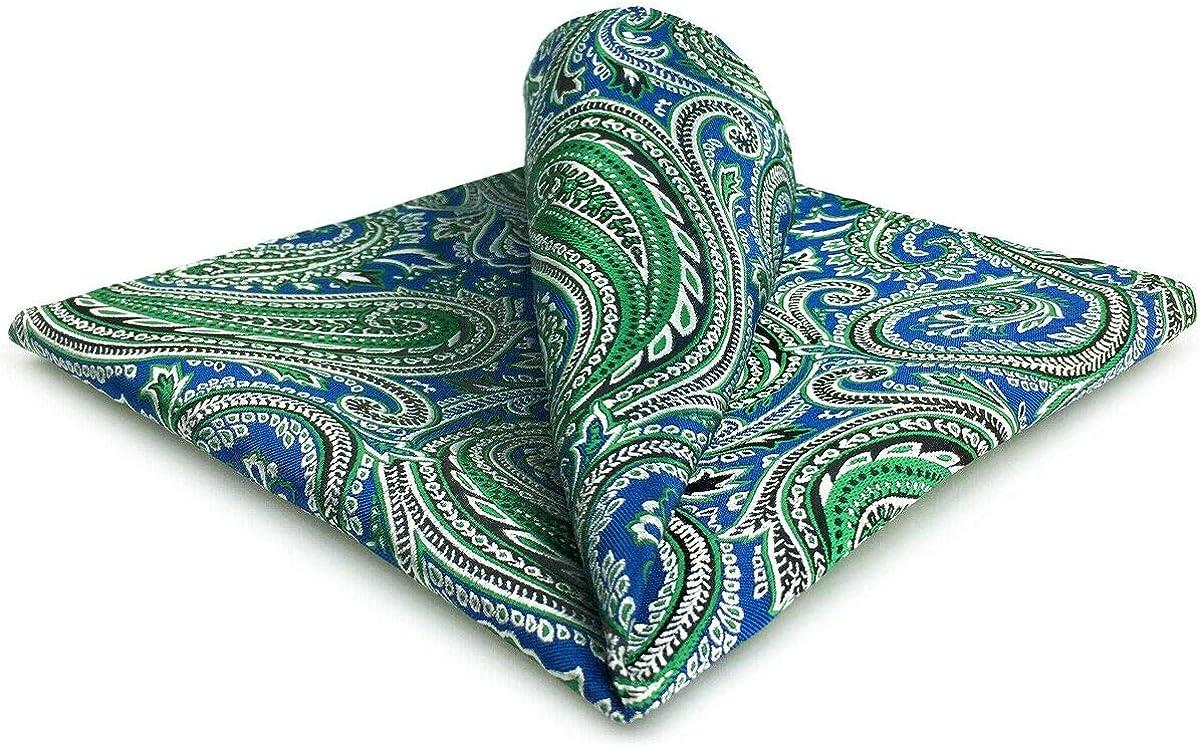 Shlax&Wing Cachemir Azul Verde Pañuelo De Bolsillo Para Hombre ...