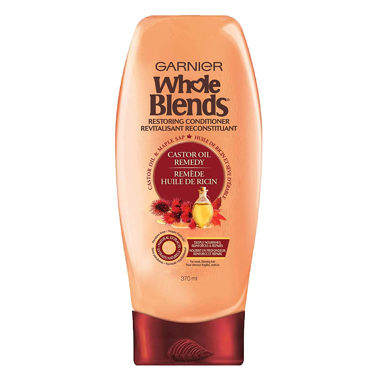Garnier Whole Blends Restoring Conditioner Maple Remedy, For Dry, Damaged Hair, 12.5 fl. oz.