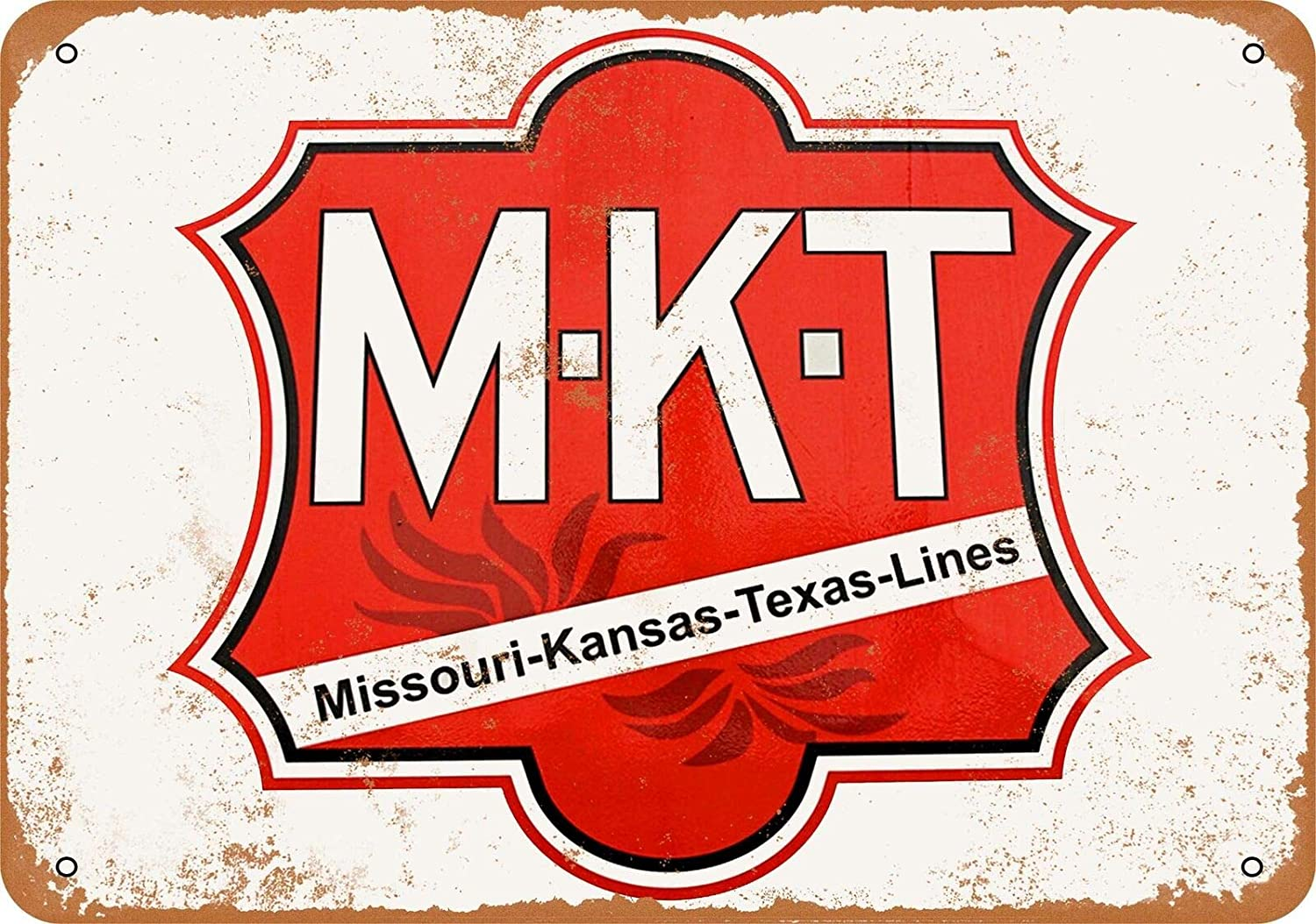 Katy M-K-T Railroad Vintage Aluminum Metal Signs Tin Plaques Wall Poster for Garage Man Cave Beer Cafee Bar Pub Club Shop Outdoor Home Decor 12x8