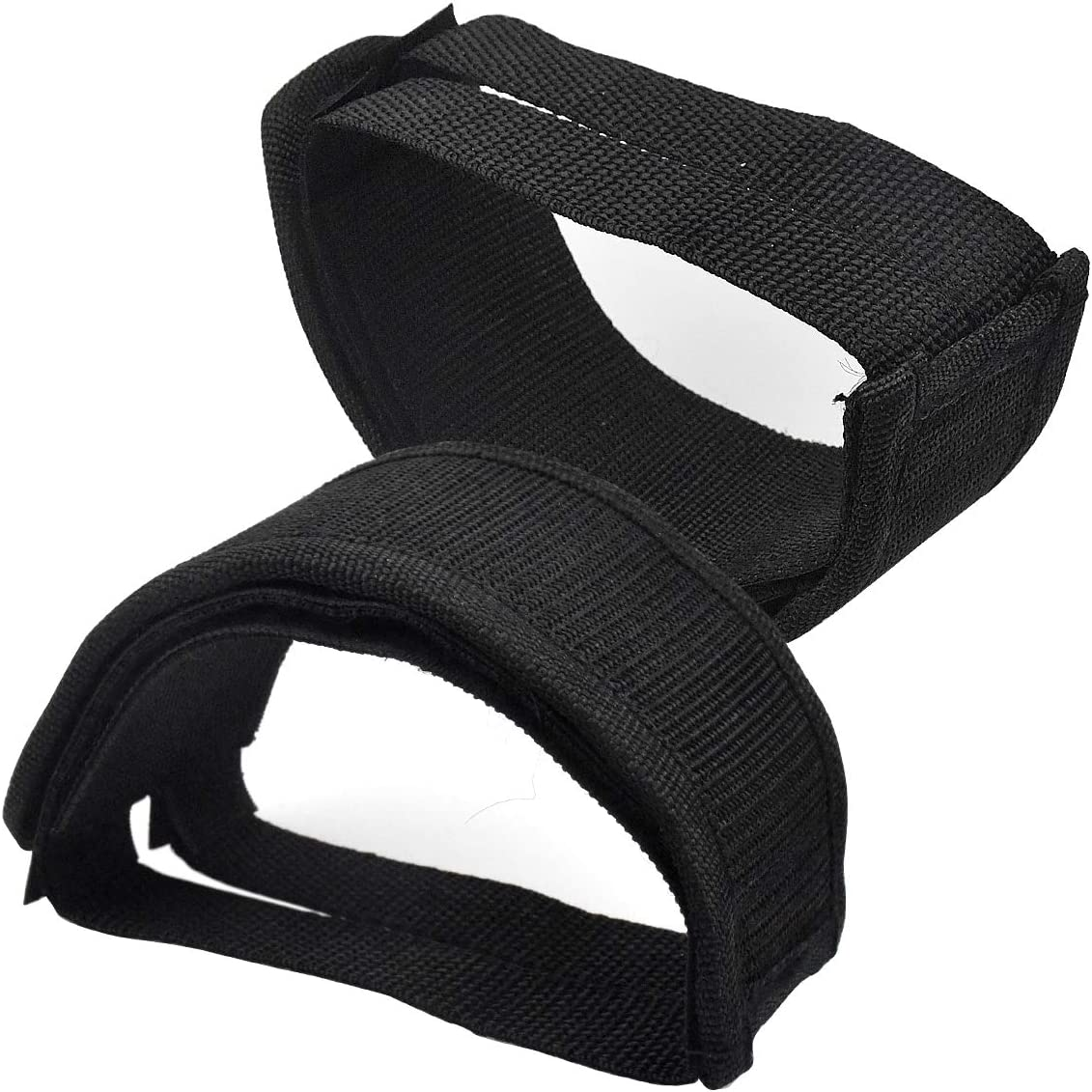 HQdeal 1 Pair Universal Bicycle Fixed Strap Anti-Slip Double Adhesive Pedal Toe Clip Strap Cycling Pedal Accessory