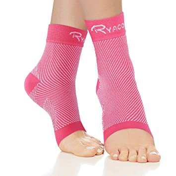 51b9bdf116 Ryaco Compression Socks - Plantar Fasciitis Sock Foot Care Sleeve with Arch  & Ankle Support for
