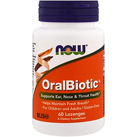NOW Foods - OralBiotic Blis K12 Promotes Healthy Oral Bacteria - 60 Lozenges by Now Foods
