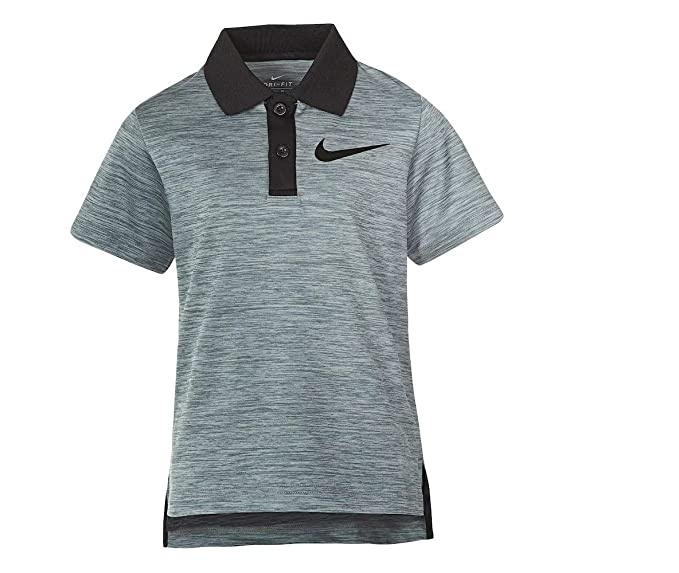 34f7c918 Nike Little Boys' Short Sleeve Polo Shirt (Cool Grey Heather (76C217-G1D