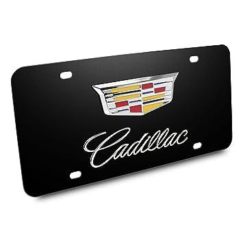 Amazon.com: Cadillac Crest Nombre 3d Logo Negro Acero ...