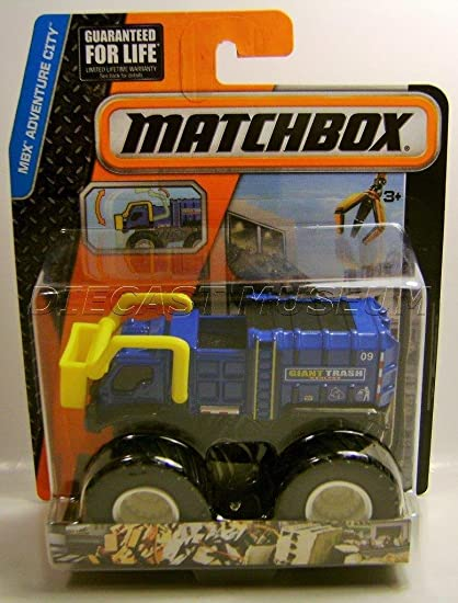 TRASH U0026 BASH TRASH TRUCK MONSTER TRUCK MBX ADVENTURE CITY MATCHBOX DIECAST  RARE