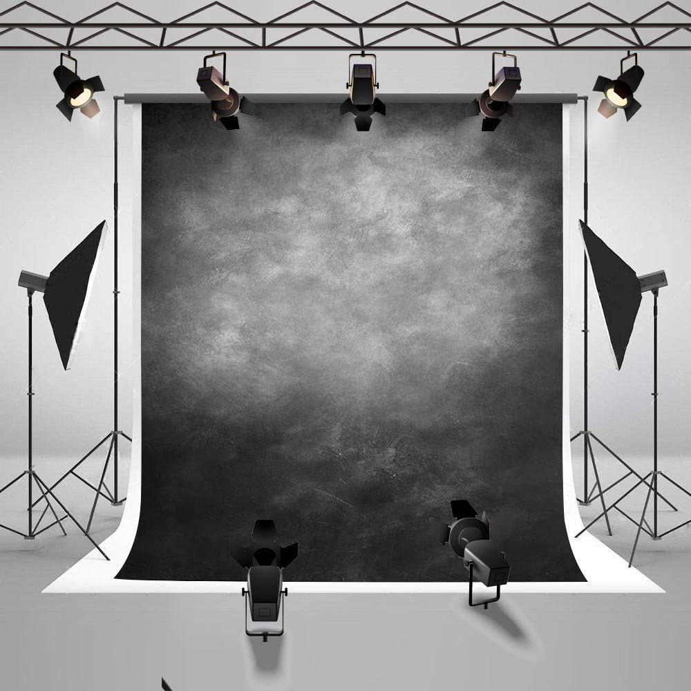 Mehofoto Abstract Backdrops Grey Smoky Photography Background for Adults Children Professional Old Master Portrait Backdrop for Photographers Photo Studio Props 7x10